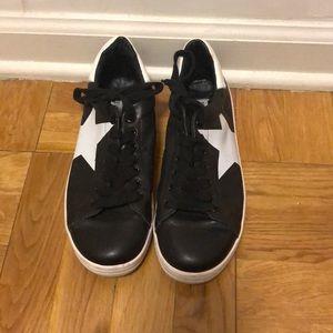 Steve Madden Rhode Black Sneakers w Star, 7.5